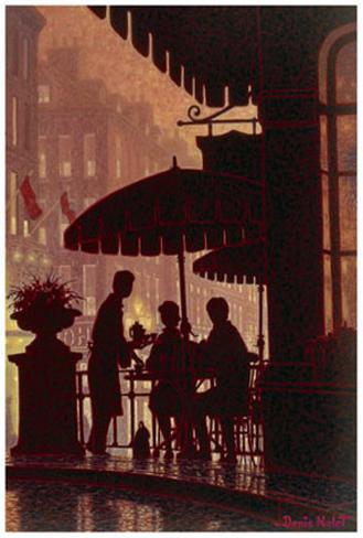 Diner A Deux Art Print