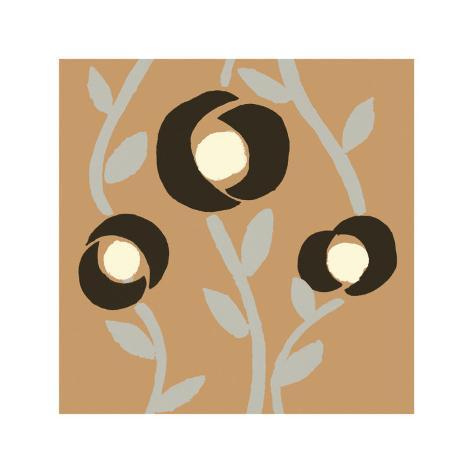 Fiori Apricot Art Print
