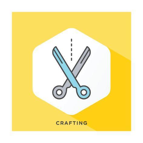 Modern style minimalistic illustration for do it yourself arts and modern style minimalistic illustration for do it yourself arts and crafts and selling lmina solutioingenieria Choice Image
