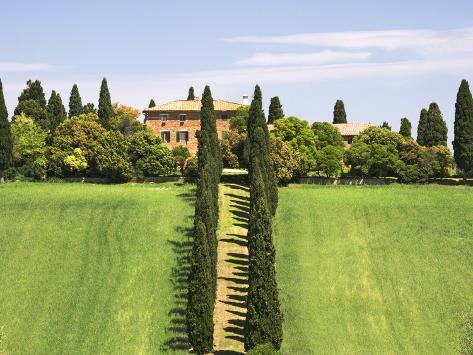 Tuscan Villa near the Town Pienza, Italy Photographic Print