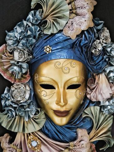Venetian Paper Mache Mask Worn for Carnivals and Festive Occasions, Venice, Italy Photographic Print