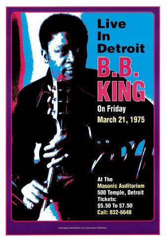 B.B. King - Live in Detroit Art Print