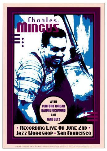 Charles Mingus Recording Live at the Jazz Workshop, San Francisco Art Print