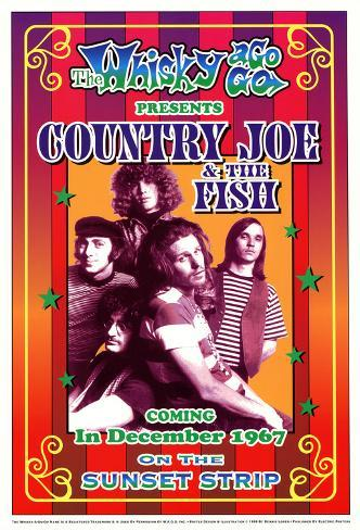 Country Joe and the Fish Whisky-A-Go-Go Los Angeles, c.1967 Art Print