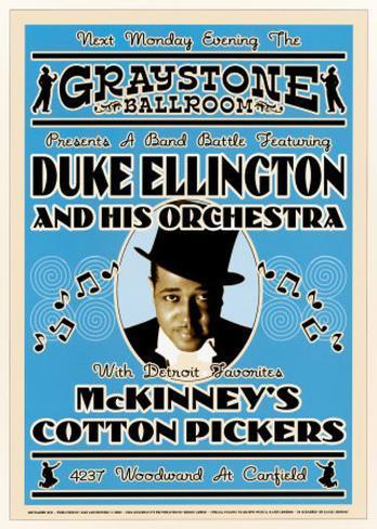 Duke Ellington and His Orchestra at the Graystone Ballroom, New York City, 1933 Art Print