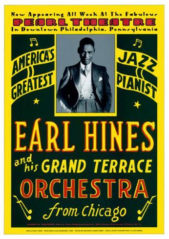 Earl Hines and His Grand Terrace Orchestra at the Pearl Theatre, Pennsylvania, 1929 Art Print