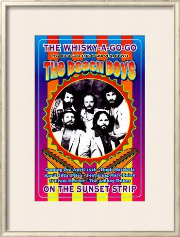 The Beach Boys at the Whiskey A-Go-Go Framed Art Print