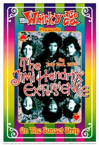 The Jimi Hendrix Experience - At the Whiskey A-Go-Go Art Print