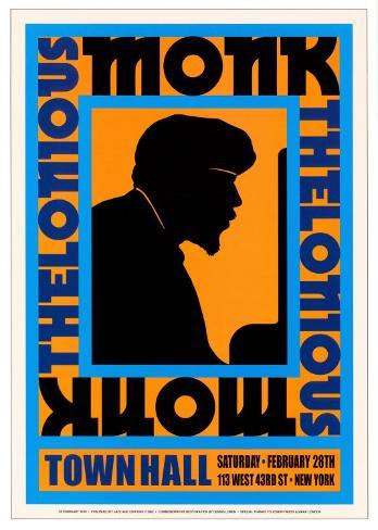 Thelonius Monk at Town Hall, New York City, 1959 Art Print