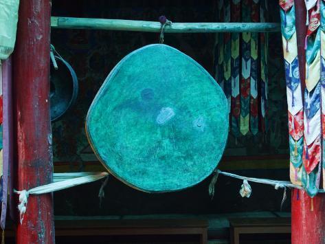 Drum at Matho Monastery Photographic Print