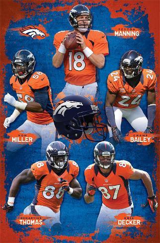 Denver Broncos 2012-13 Team Poster