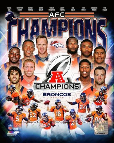 Denver Broncos 2013 AFC Champions Composite - Manning, Thomas, Welker, Bailey Photo