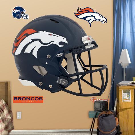 Denver Broncos Revolution Helmet Wall Decal