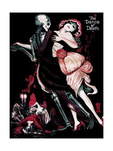 Der Totentanz, (aka the Dance of Death), English Language Poster Art, Sascha Gura, 1919 Gicléetryck