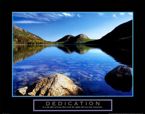 Dedication: Jordan Pond Art Print