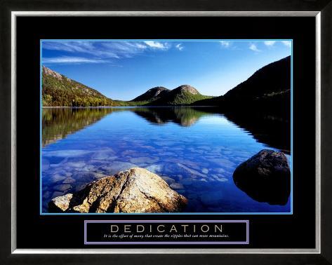 Dedication: Jordan Pond Framed Art Print
