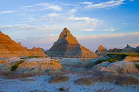 A Red Sunrise Illuminates the Hills Photographic Print