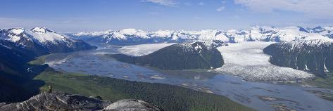 Aerial View of Taku River Photographic Print