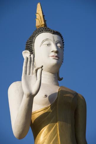 Statue of Buddha at Wat That Luang Tai, Vientiane,Laos Photographic Print