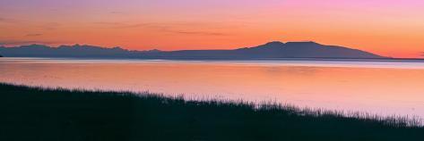 Sunset over Mount Susitna *Sleeping Lady* across Knik Arm Southcentral Alaska Summer Photographic Print