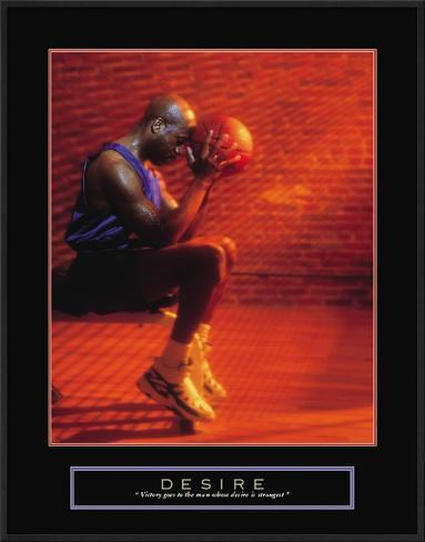 Desire: Basketball Framed Art Print