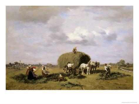 Harvest in Upper Bavaria Giclee Print