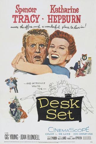 Desk Set, Spencer Tracy, Katharine Hepburn, 1957 アートプリント