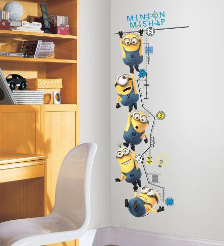 Despicable Me 2 Growth Chart Peel and Stick Wall Decals Wall Decal