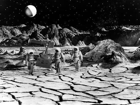 Destination Moon, Astronauts Explore The Lunar Terrain, 1950 Photo