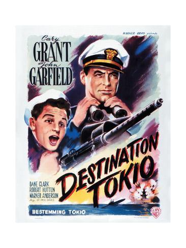 Destination Tokyo - Movie Poster Reproduction Art Print
