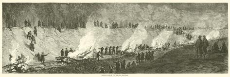 Destruction of the Weldon Railroad, September 1864 Giclee Print