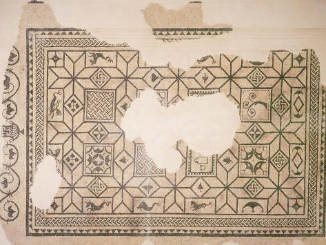 Detail of Mosaic Floor from Villa Albrizzi, Este Giclee Print