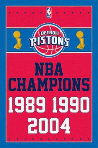 Detriot Pistons NBA Champions Sports Poster Poster