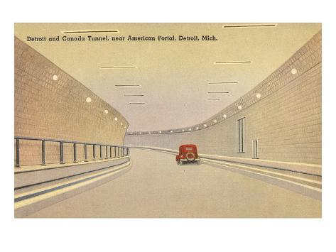 Detroit and Canada Tunnel, Detroit, Michigan Art Print