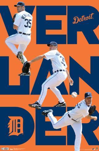 Detroit Tigers Justin Verlander 2012 Poster