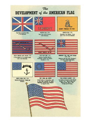 Development of the American Flag Art Print