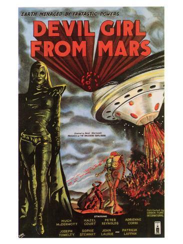 Devil Girl From Mars, 1955 Art Print