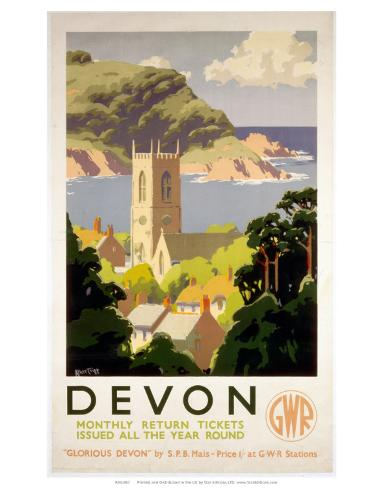 Devon, GWR, c.1930s Art Print
