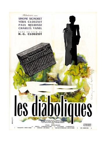Diabolique, (AKA Les Diaboliques), French Poster Art, 1955 Giclee Print
