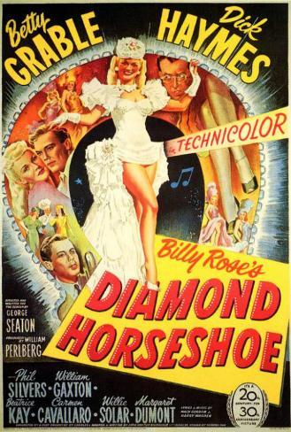 Diamond Horseshoe Poster