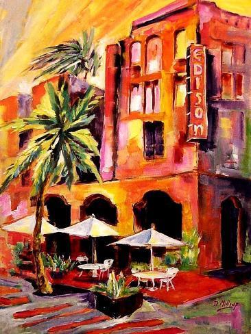 Colors of South Beach Impressão artística