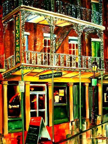 Felixs Oyster Bar in New Orleans Art Print