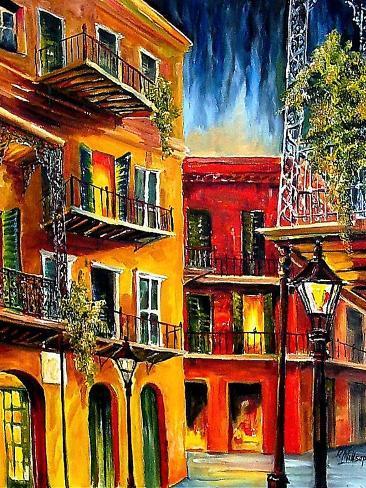 French Quarter Balconies Impressão artística