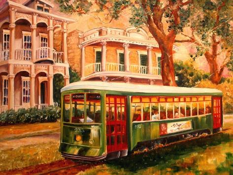 Garden District Streetcar Art Print