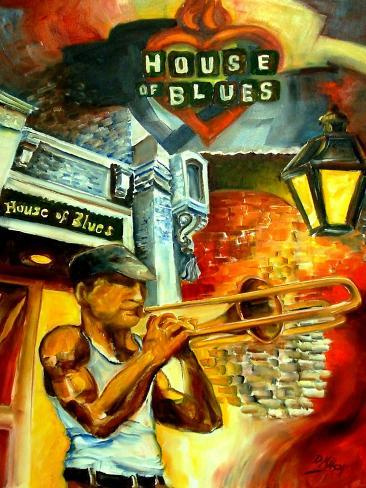 New Orleans House Of Blues Art Print