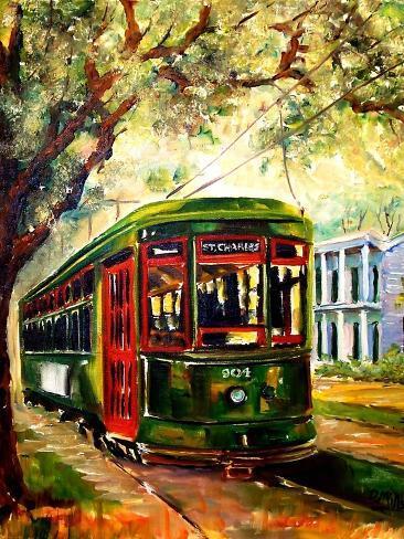 New Orleans St Charles Streetcar Art Print