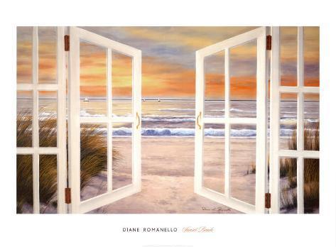 Sunset Beach Lámina