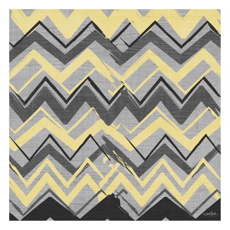 Yel Gray Stripes 2 Art Print
