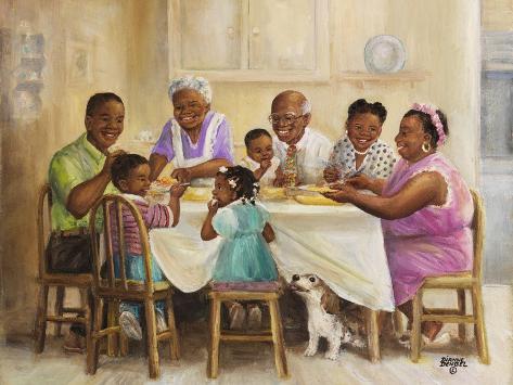 Family Dinner Stampa giclée