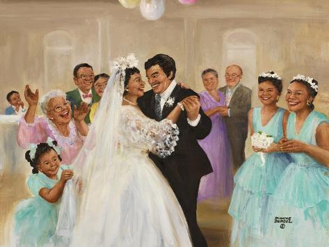 Hispanic Wedding Stampa giclée
